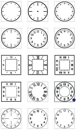 Картина-часы. Выбор циферблата