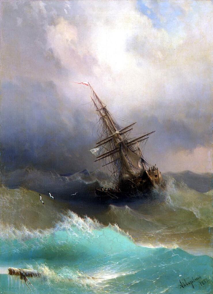 Айвазовский И.К. Корабль среди бурного моря
