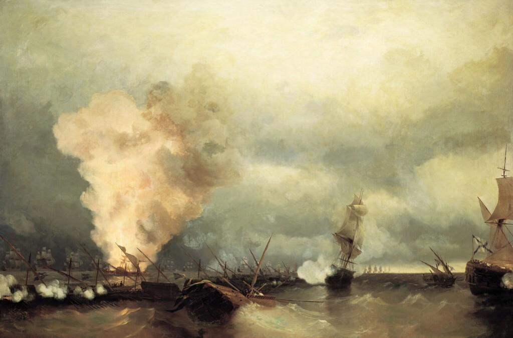 Морское сражение при Выборге. Айвазовский