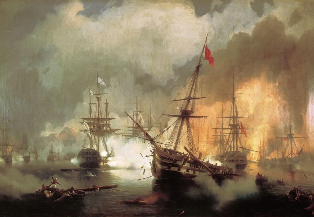 Морское сражение при Наварине. Айвазовский