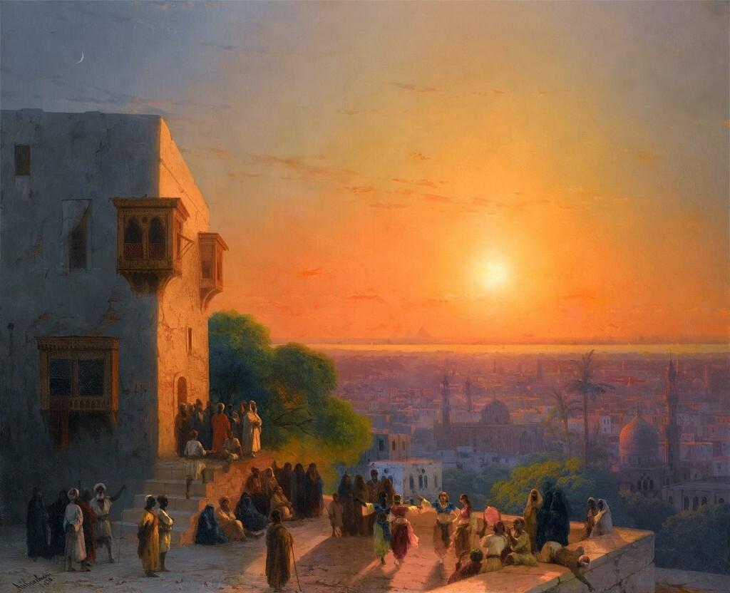 Вечер в Каире. Айвазовский