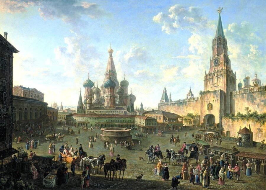 Красная площадь в Москве Алексеев Ф.Я.