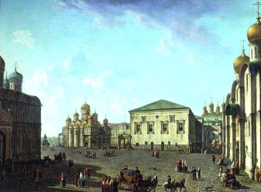 Площадь перед Успенским собором в Московском Кремле Алексеев Ф.Я.