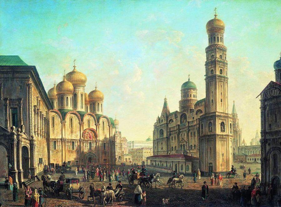 Соборная площадь в Московском Кремле Алексеев Ф.Я.