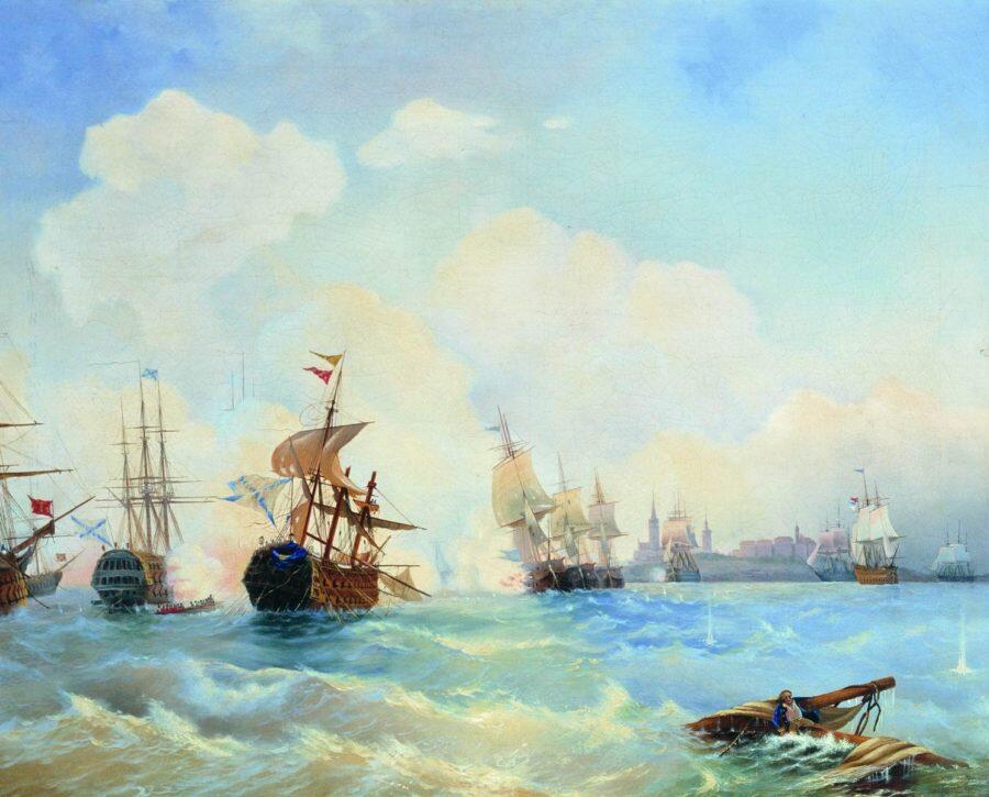 Ревельский бой 2 мая 1790 года. 1860-е. Боголюбов А.П.