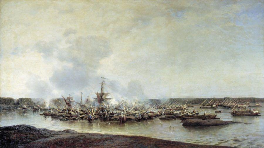 Сражение при Гангуте 27 июля 1714 года. (1877г). Боголюбов А.П.
