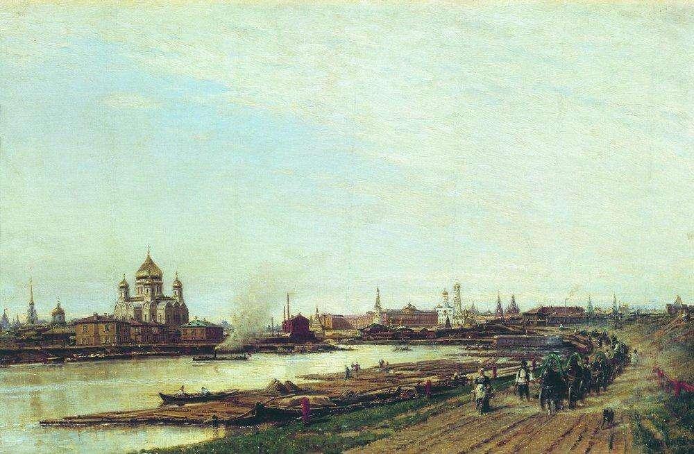 Вид Москвы с Бабьего городка. (1880-е). Боголюбов А.П.