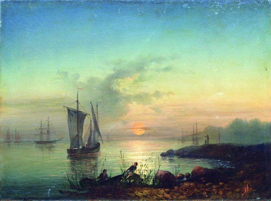 Закат на берегу моря Боголюбов А.П.