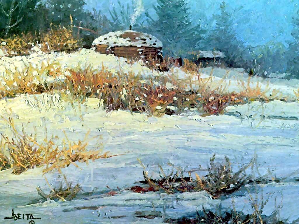 Д. Альберта Снег в августе