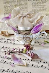 Постер Чашка и ноты