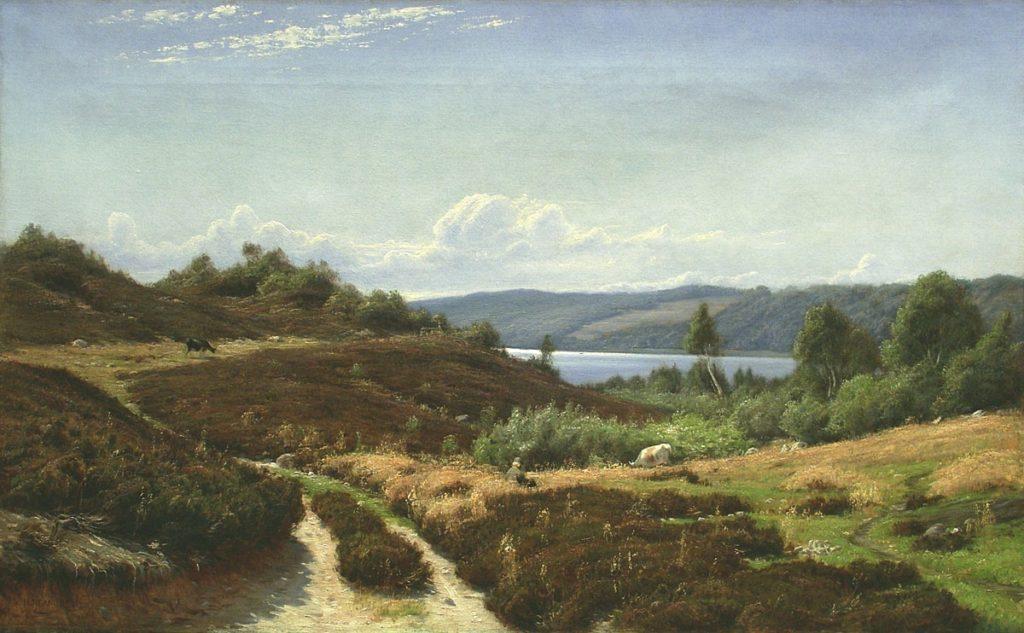 Иван Вельц. Летний пейзаж с пастушком и коровами