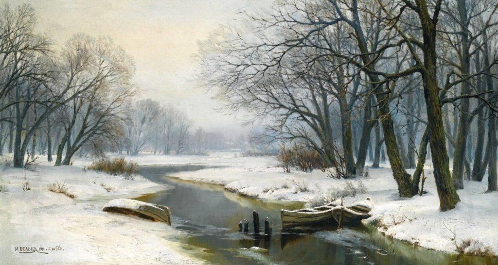 Зимний пейзаж. Иван Вельц