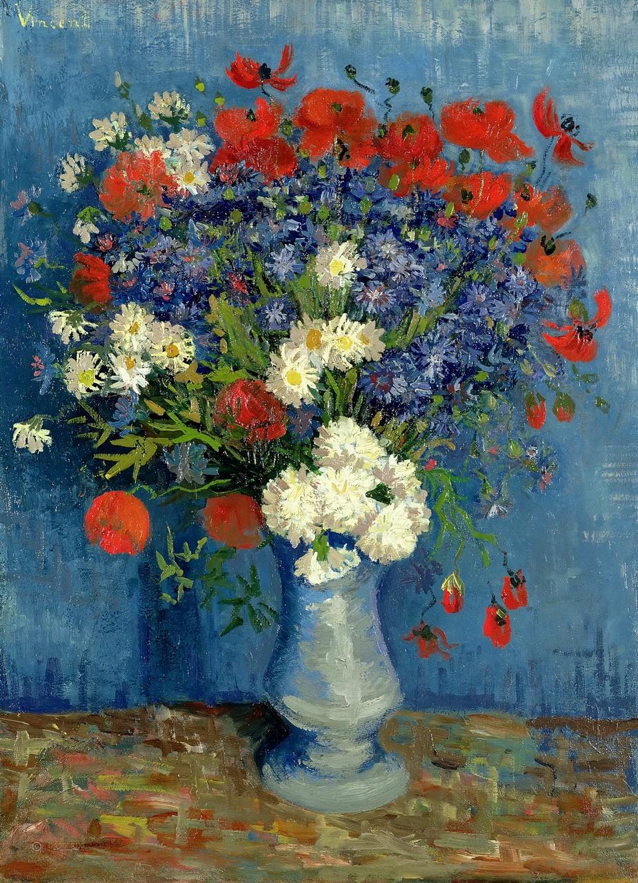 Картина Ваза с васильками и маками. Ван Гог
