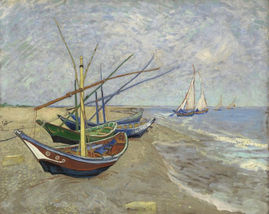 Картина Рыболовные лодки на берегу Сент-Мари