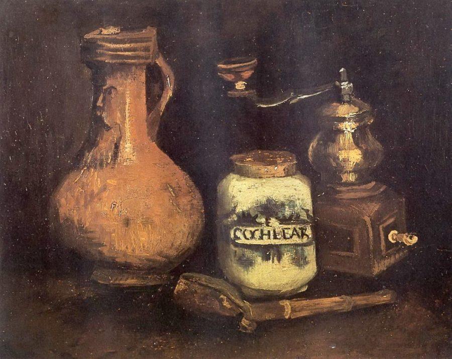 Натюрморт с кофемолкой, трубкой и кувшином. Ван Гог