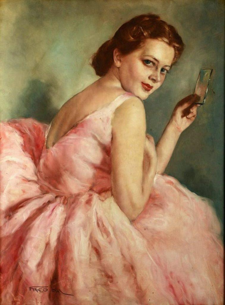 Пал Фрид. Балерина в розовом платье
