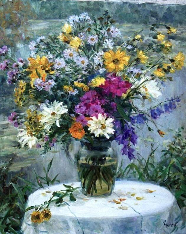 В.С. Гусев. Букет цветов