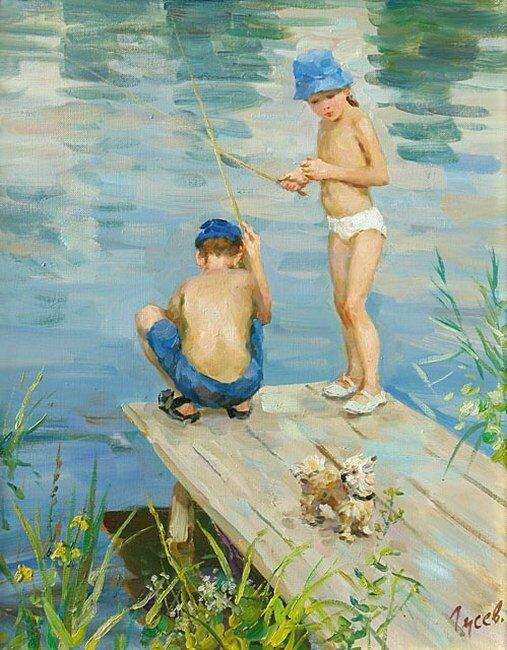 Владимир Гусев. На рыбалке