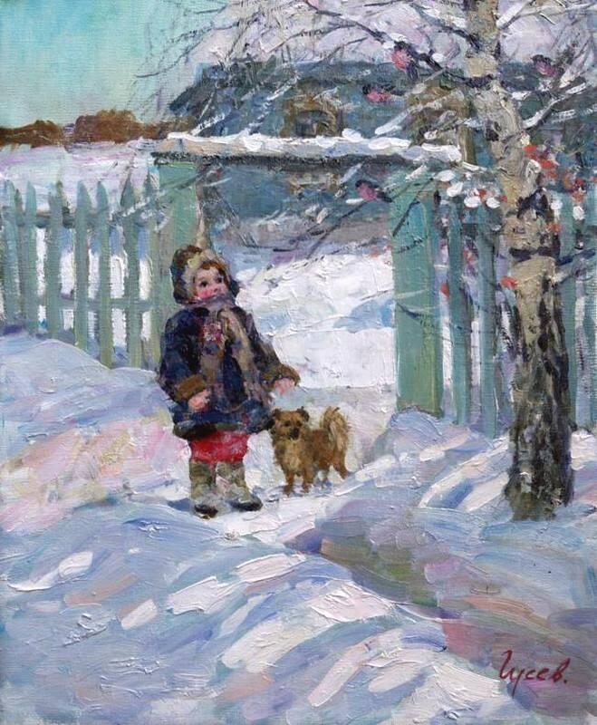 Владимир Гусев. Снегири
