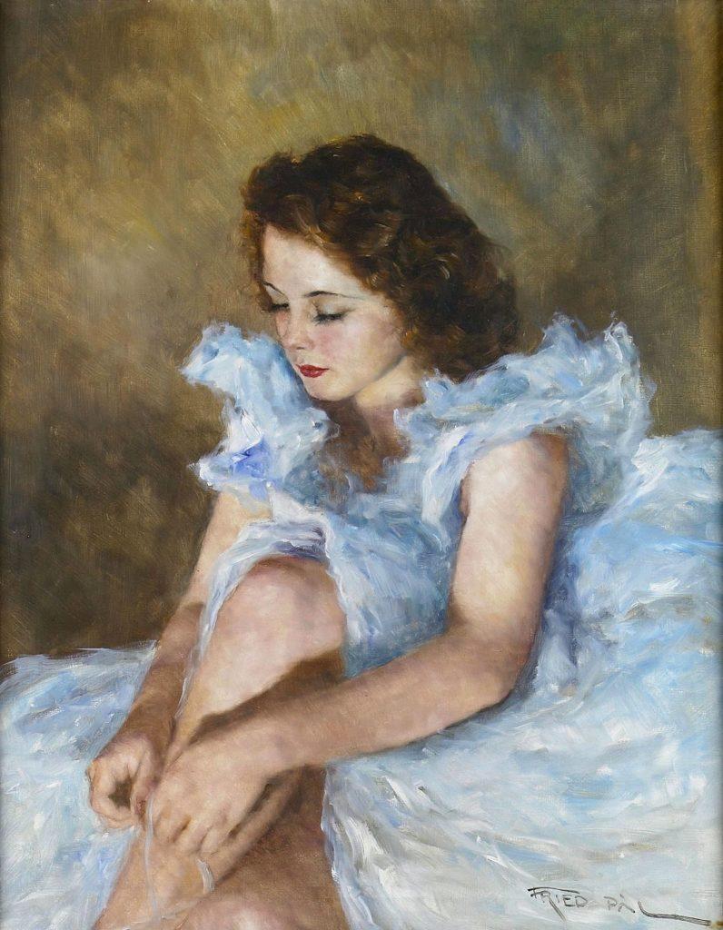 Пал Фрид. Дама в голубом платье