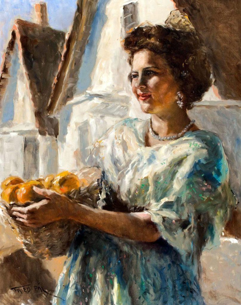 Пал Фрид. Женщина с апельсинами