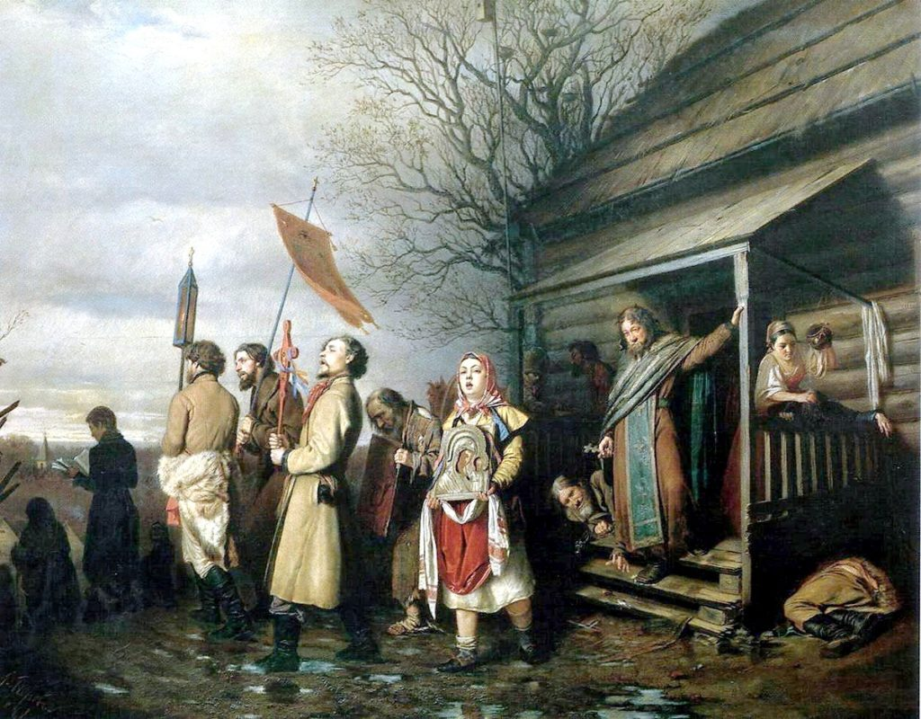 Перов. Сельский крестный ход на Пасхе