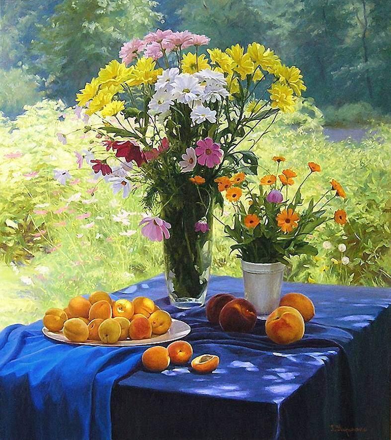 Г.Кириченко. Натюрморт с абрикосами