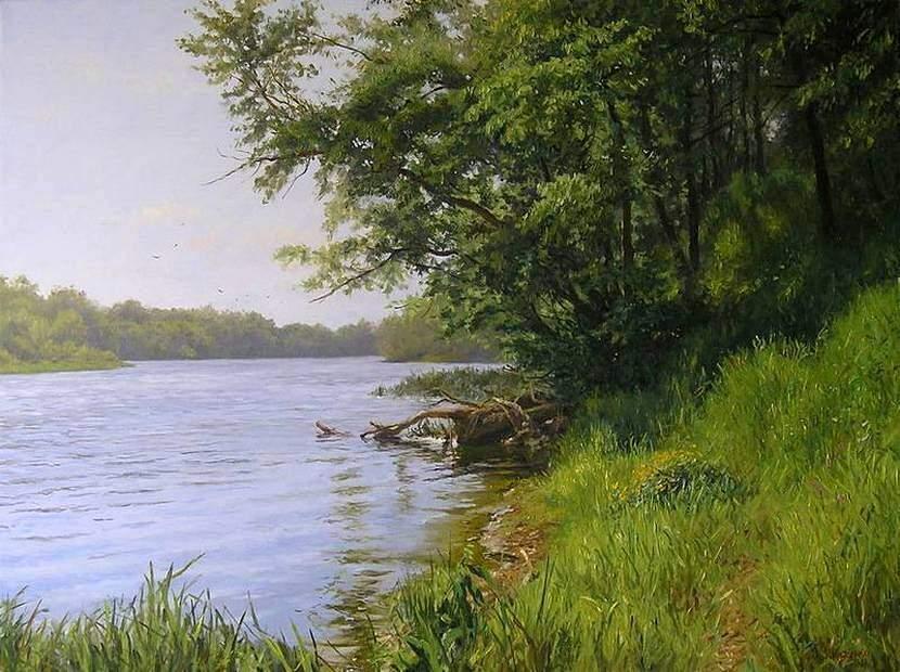 Г.Кириченко. Утро на реке 2