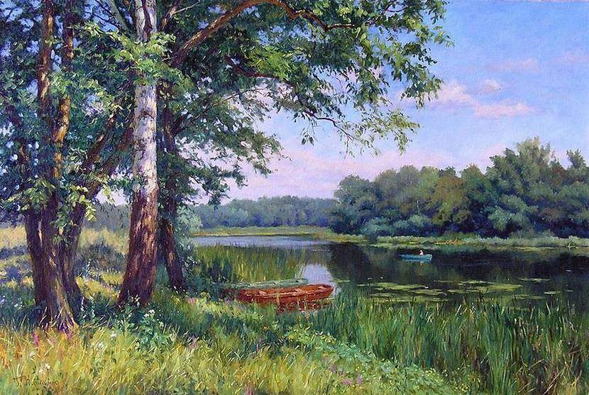 Г.Кириченко. Утро на реке
