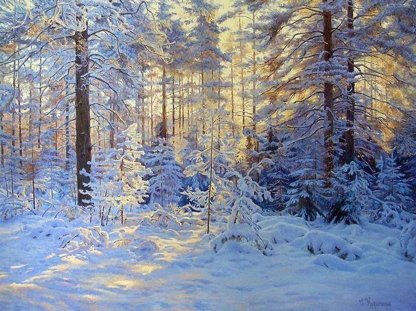 Г.Кириченко. Зимний пейзаж