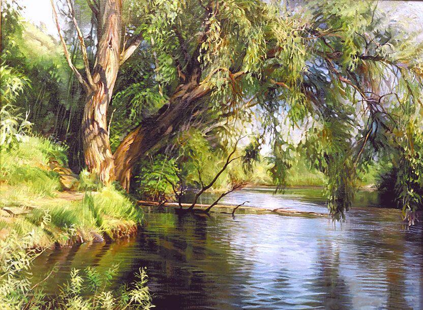 Р.Романов. Ивы у реки
