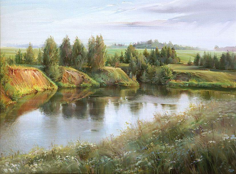 Р.Романов. Лето 62x84 см