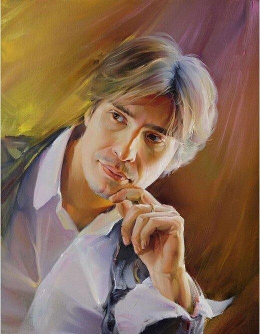 Р.Романов. Портрет молодого человека