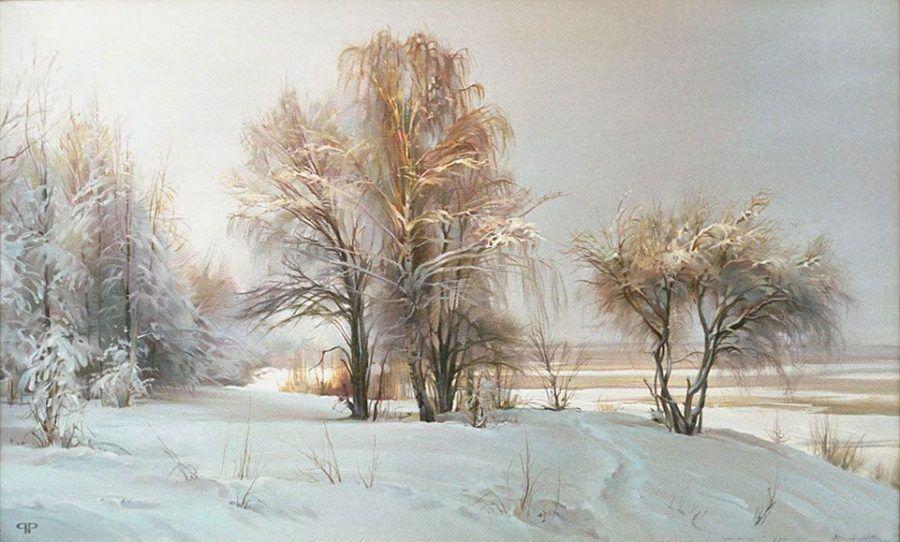 Р.Романов. Выпал снег