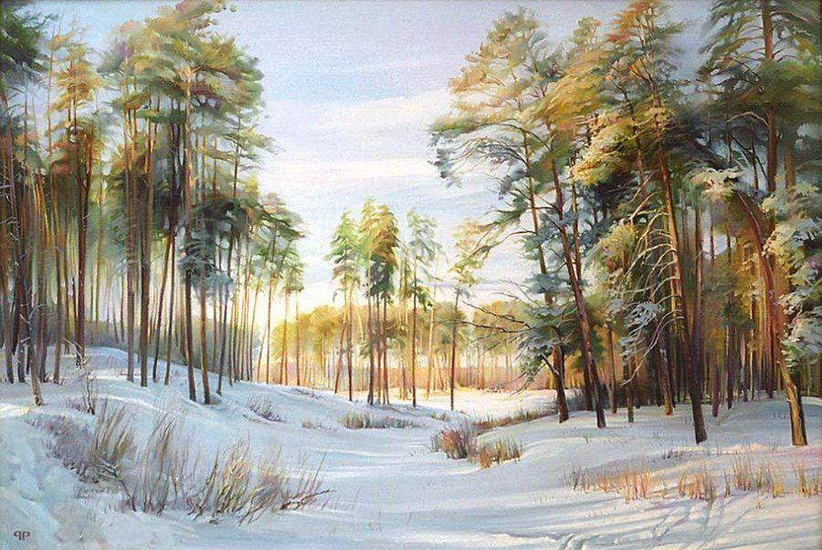 Р.Романов. Зима. Лебяжье