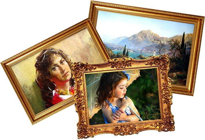 Печать на холсте картин, постеров и портретов