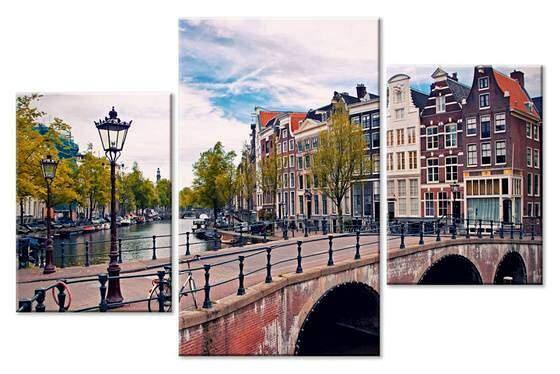 Амстердам. Модульная картина
