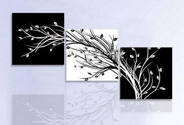 Черно-белая модульная картина