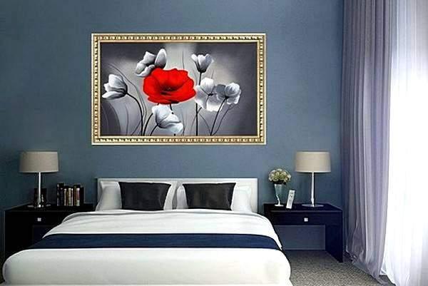 Черно-белые постеры для интерьера спальни