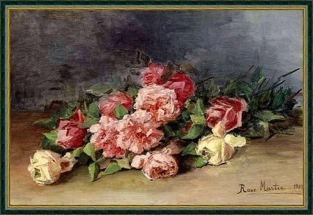 Букет роз. Розе Мартин