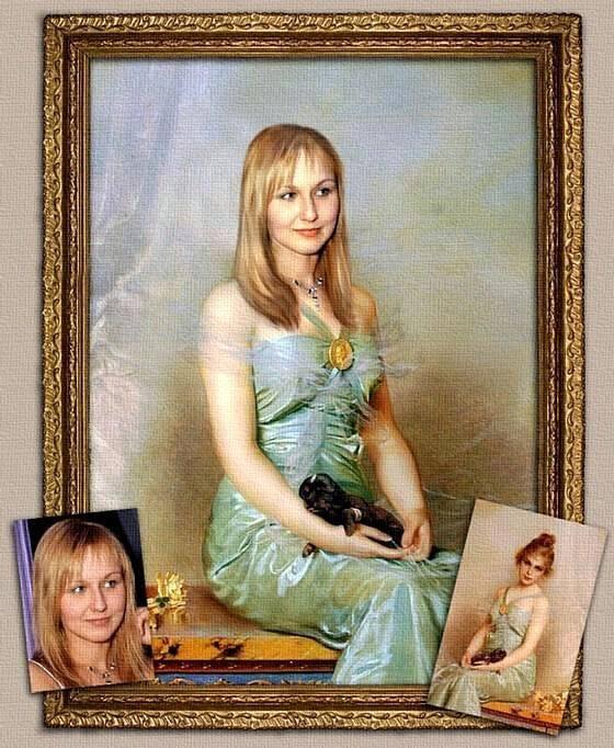 Печать портретов на холсте