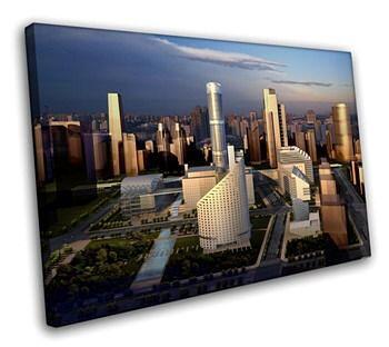 Постер с городским пейзажем