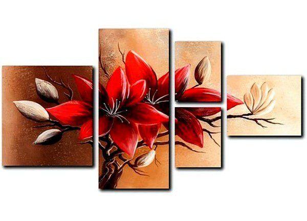 Сделать модульную картину самому. Цветы