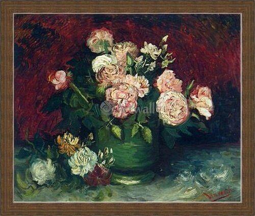 Купить репродукции картин. Репродукция Ваза с пионами и розами