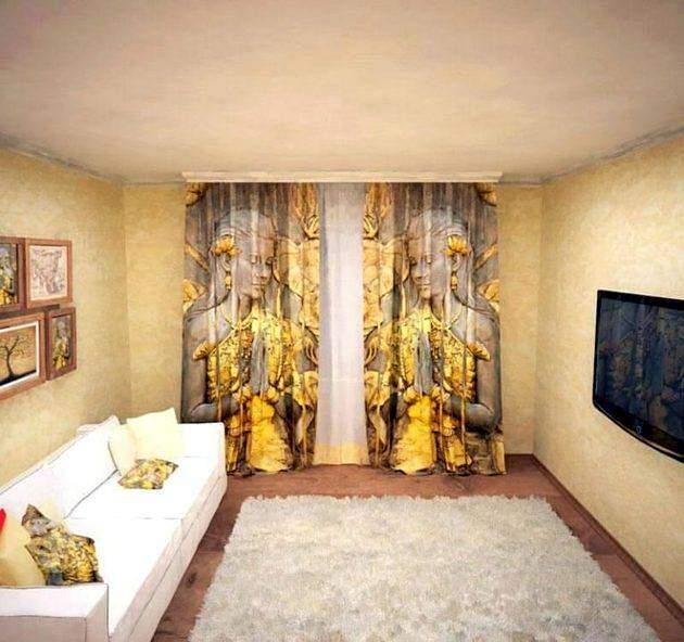 Фотошторы в дизайне комнаты