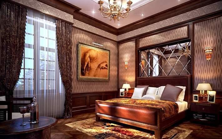 Стильный дизайн интерьера спальни с сексуальным оттенком