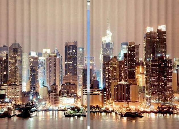 Фотошторы - пейзаж Манхеттена
