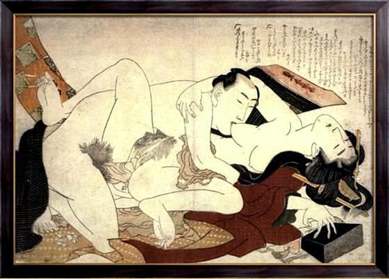Картина для спальни в японском стиле
