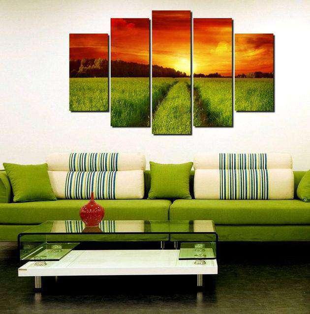 Картины для интерьера - сочетание тонов