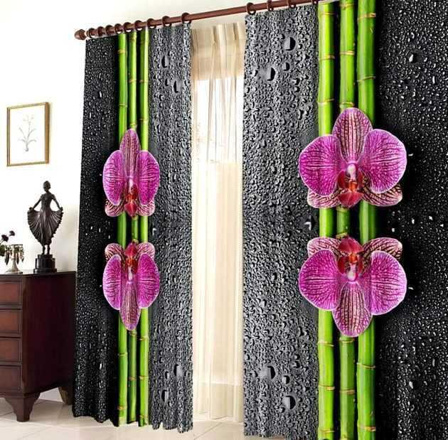 Орхидеи. Фотошторы